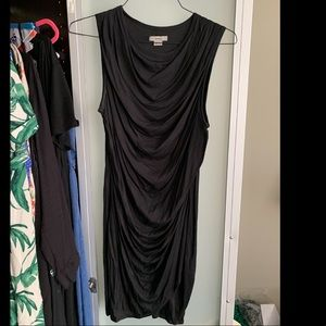 Helmut Lang LBD, size L, easy draped black dress